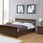 кровать из массива сосны идеи дизайна