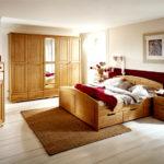 кровать из массива сосны фото декор