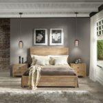 кровать из массива сосны фото декора