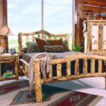 кровать из массива сосны декор идеи
