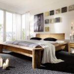 кровать из массива сосны идеи оформление