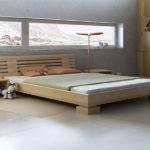 кровать из массива сосны идеи оформления