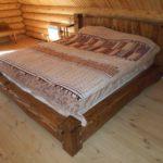 кровать из массива сосны варианты фото