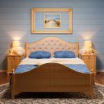 кровать из массива сосны фото дизайн