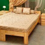 кровать из массива сосны фото дизайна