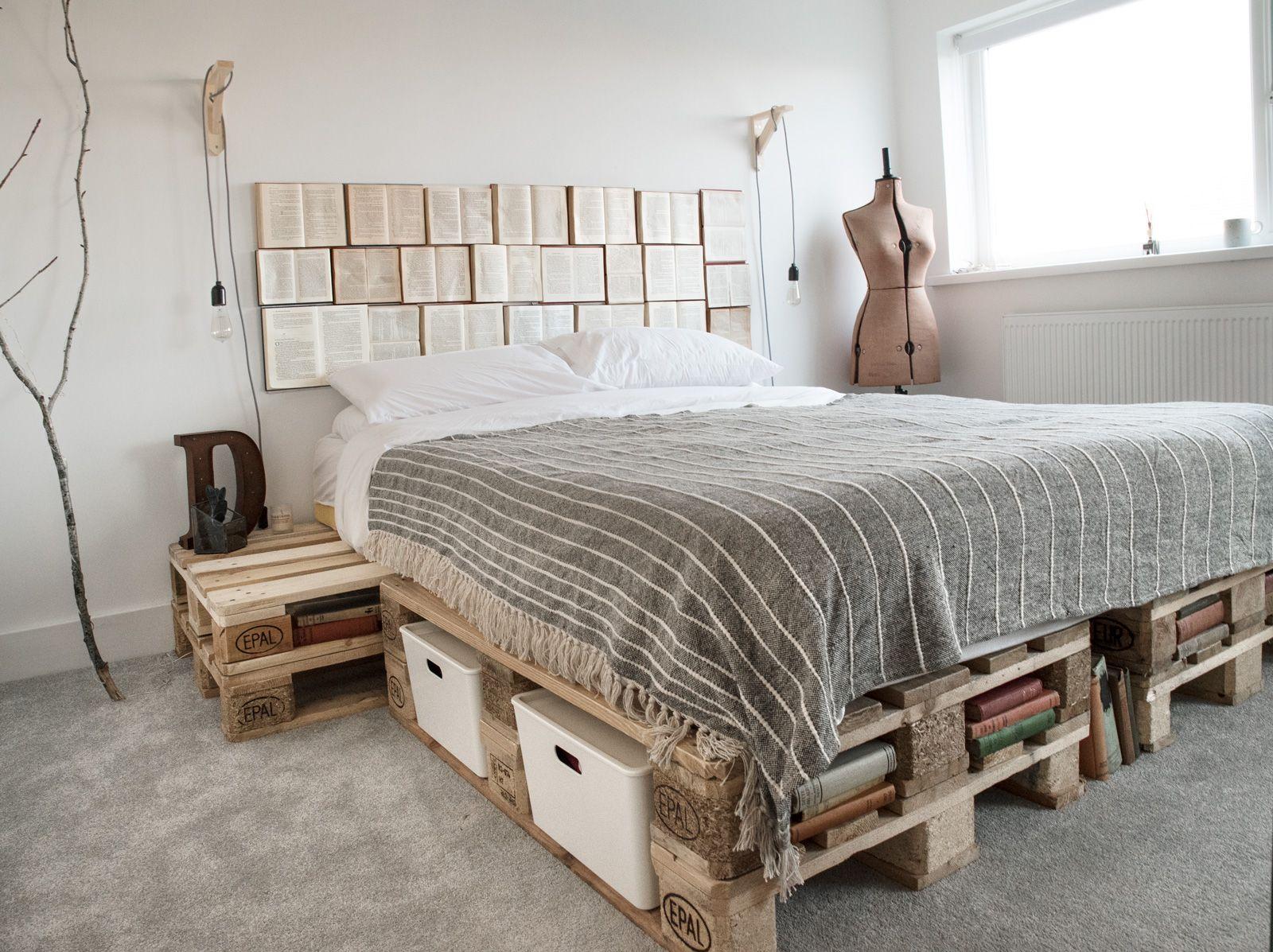 кровати из паллет поддонов фото образом приклеиваем