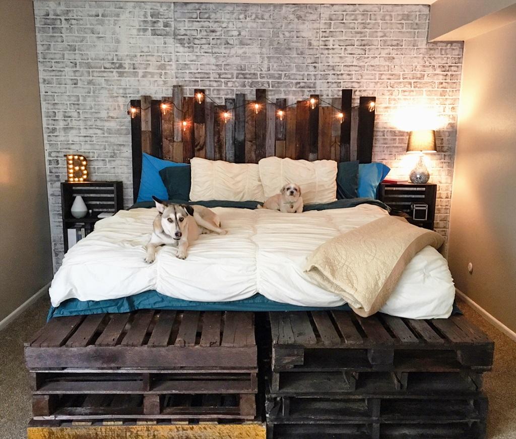 кровати из паллет экологичные