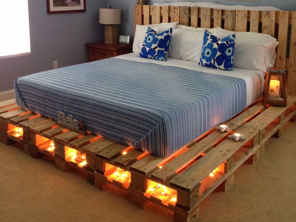 кровать из поддонов размер