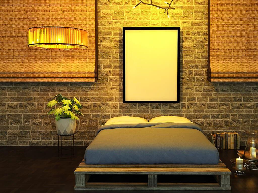 кровать из поддонов двуспальная