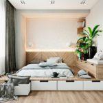 кровать-подиум с цветком