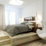кровать-подиум деревянная