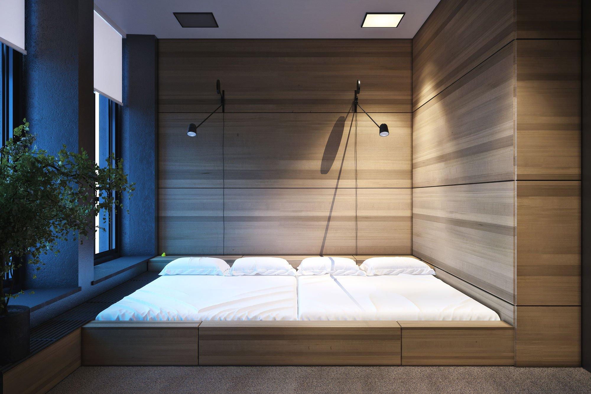 Кровать на полу картинки