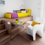 кровать-подиум цветная