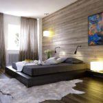 кровать-подиум темно коричневая