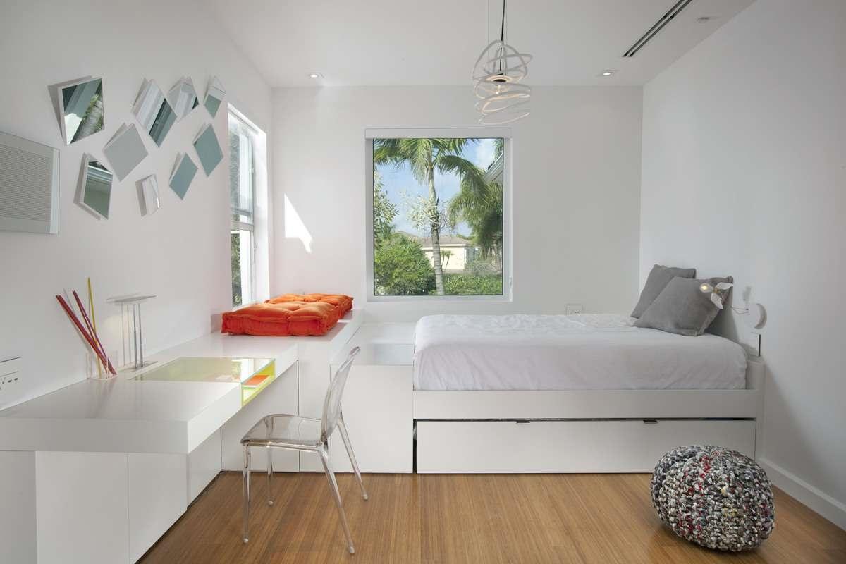 кровать-подиум организация пространства