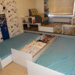 кровать-подиум матрац внутри