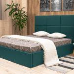 кровать с подъемным механизмом зеленая