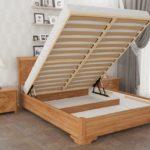 кровать с подъемным механизмом коричневая