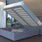 кровать с подъемным механизмом стальная