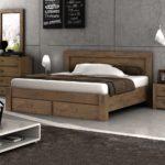 кровать с выдвижными ящиками в стиле минимализм