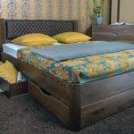 кровать с выдвижными ящиками под дерево