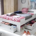 пример кровати с выдвижными ящиками