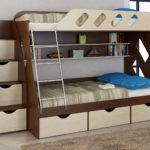 кровать со шкафчиками от Дуэт