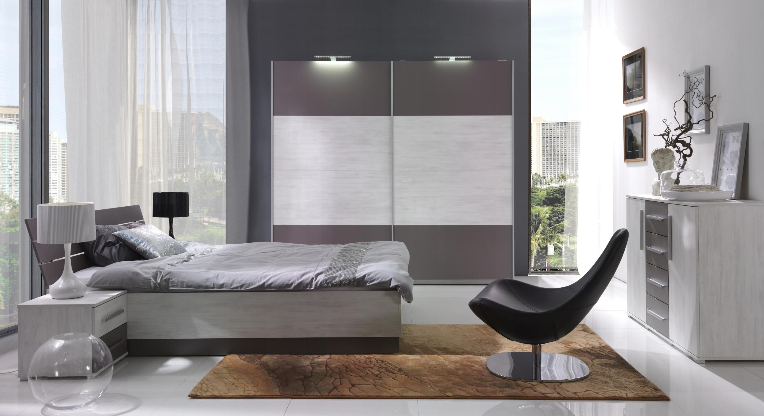 кровать со шкафчиками в стиле Хай-тек