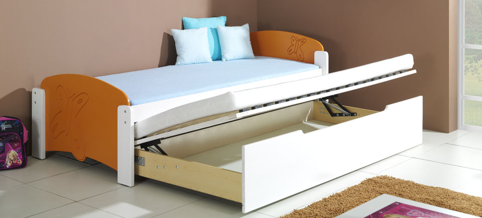 детская кровать трансформер с выдвижным механизмов