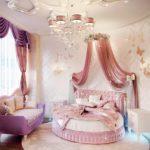 круглая кровать для девочки