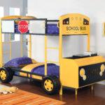кровать-машина для мальчика под желтый автобус