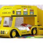 желтый автобус в виде кровати-машины для мальчика