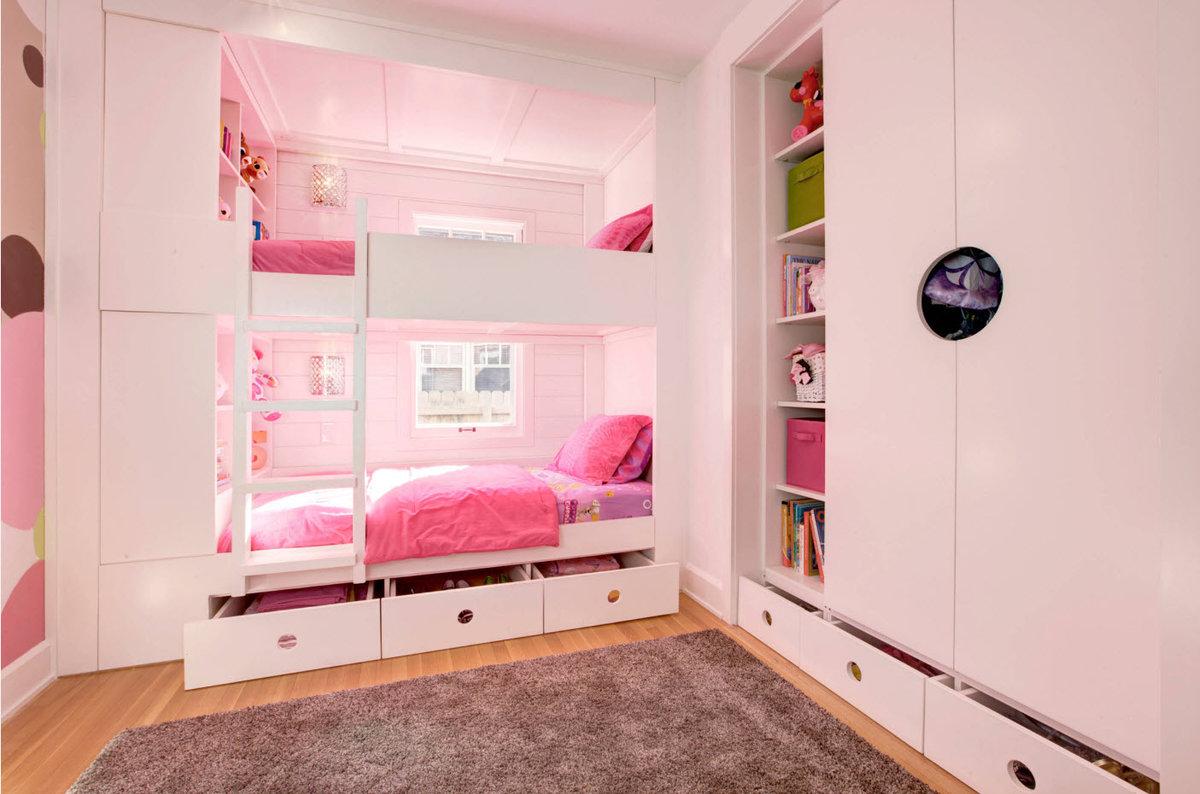 кровать-шкаф для девочки