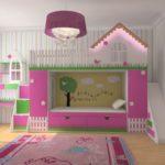 необычная кровать для девочки
