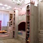 замок-кровать для девочки