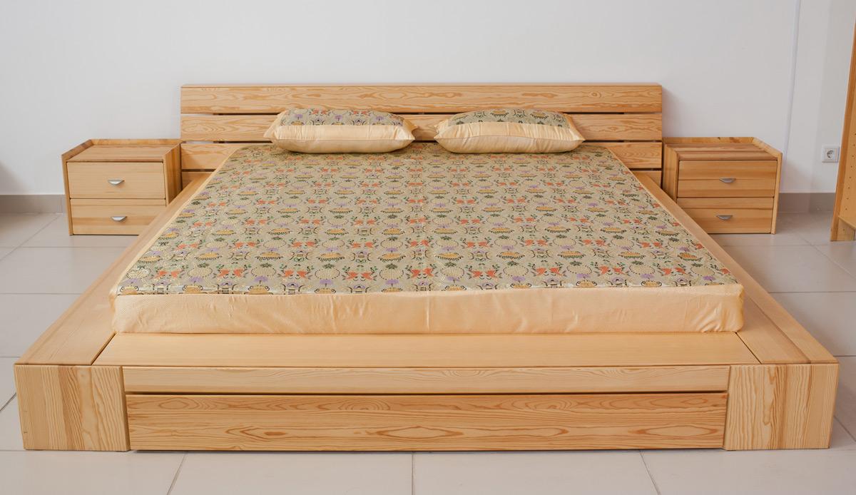 кровати из сосны минимализм