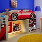 двухуровневая кровать-машина для мальчика