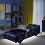спортивная кровать-машина для мальчика с подсветкой