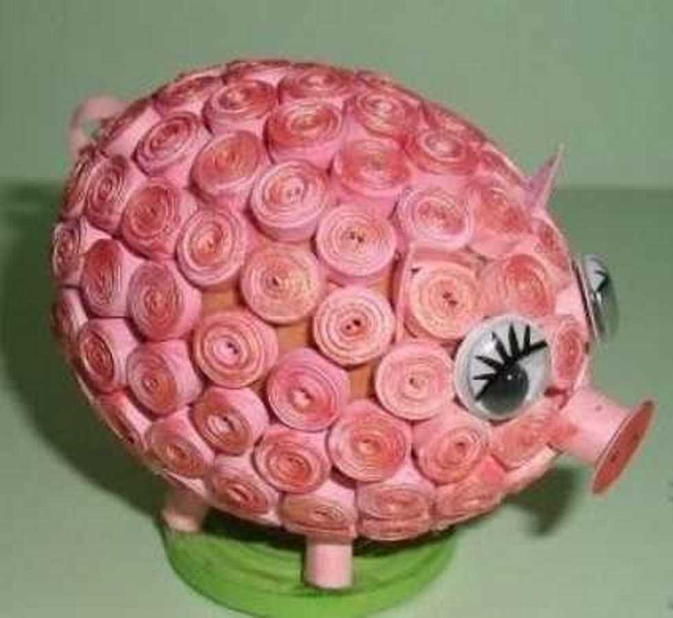 квиллинг свинья