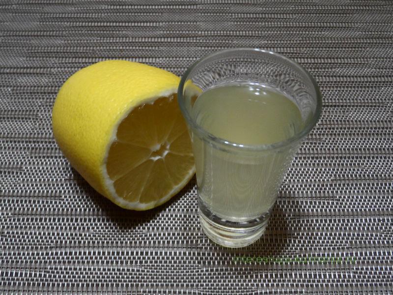 лимонный сок и водка