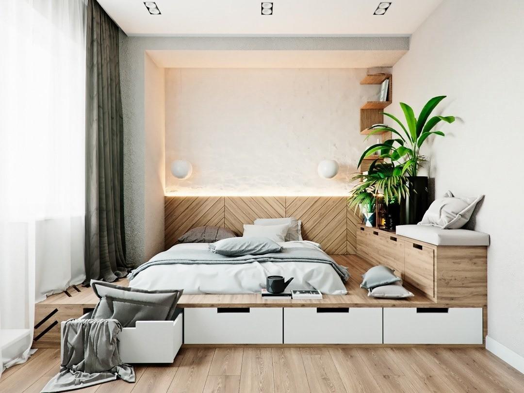 материал для кровати с выдвижными ящиками
