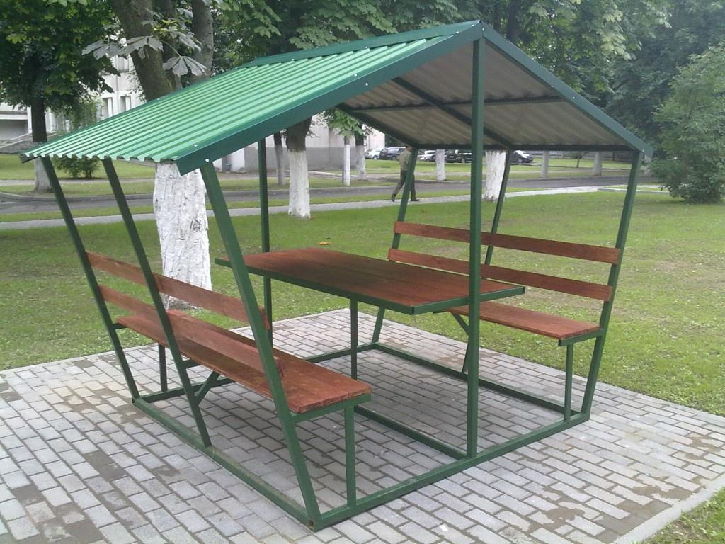 столы и скамьи из металла