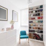 просторные стеллажи для хранения обуви