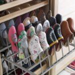 металлические рейки для хранения обуви