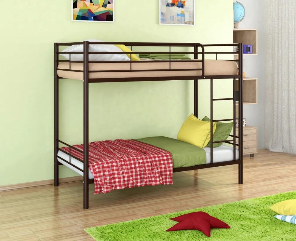 металлическая двухъярусная кровать дизайн фото