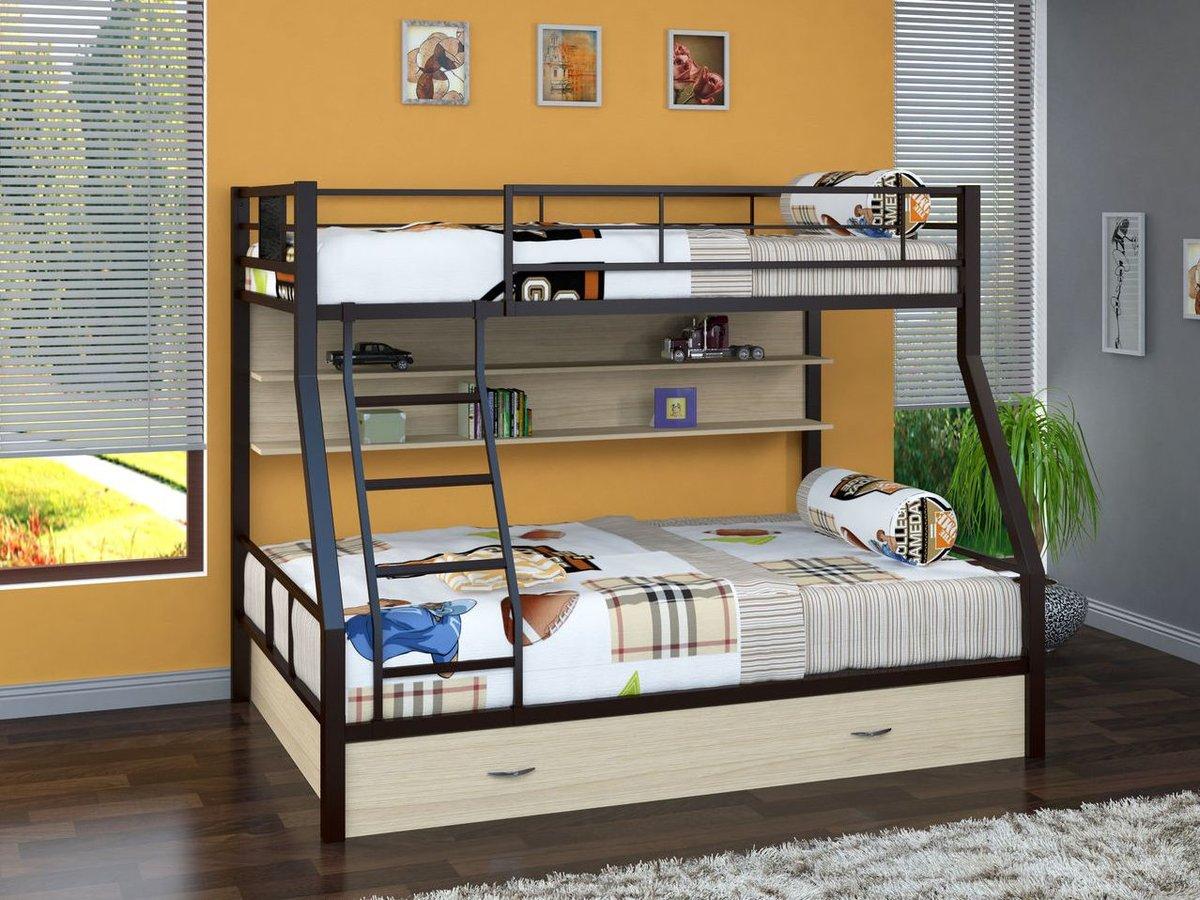 металлическая двухъярусная кровать дизайн