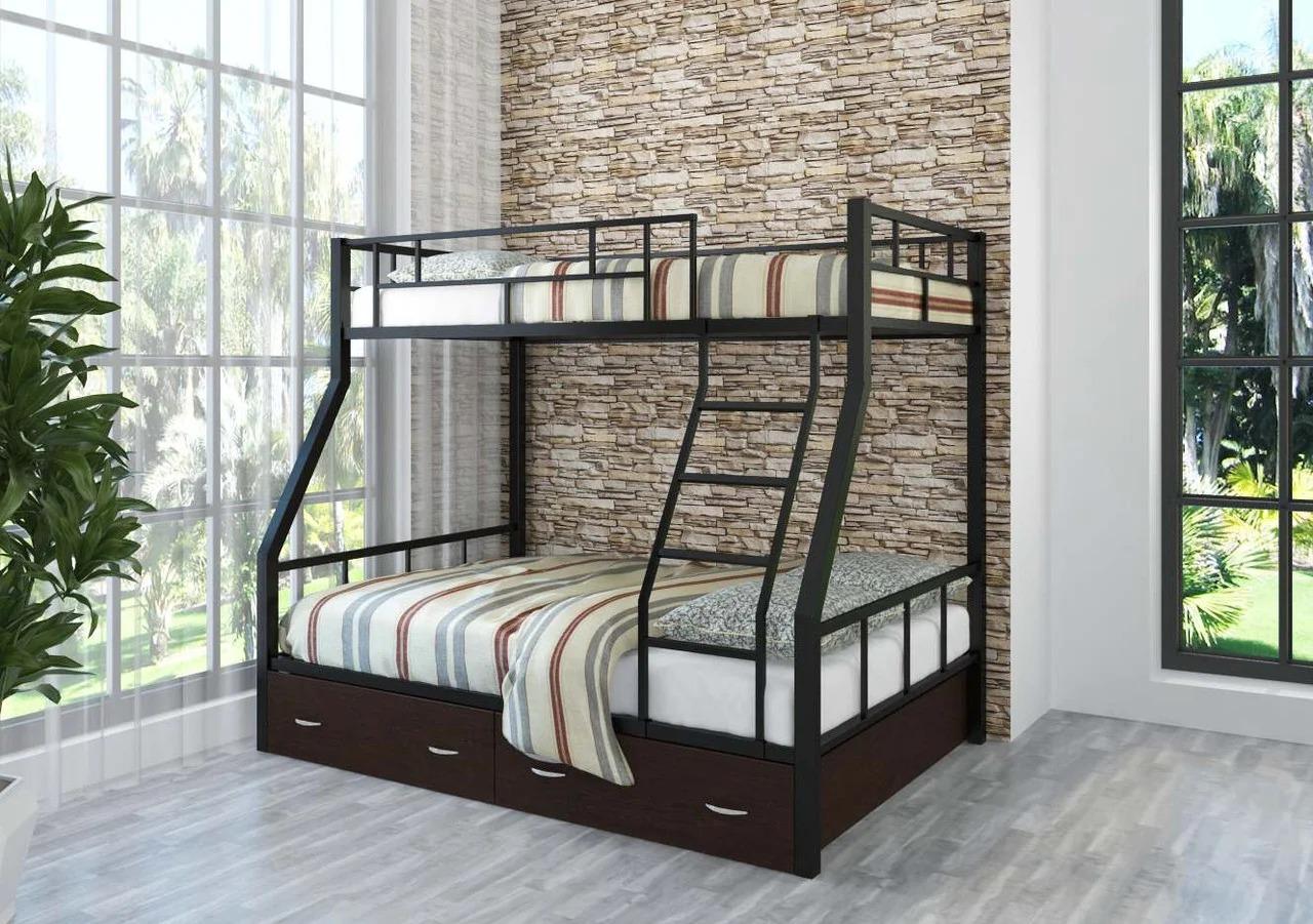 металлическая двухъярусная кровать фото дизайн