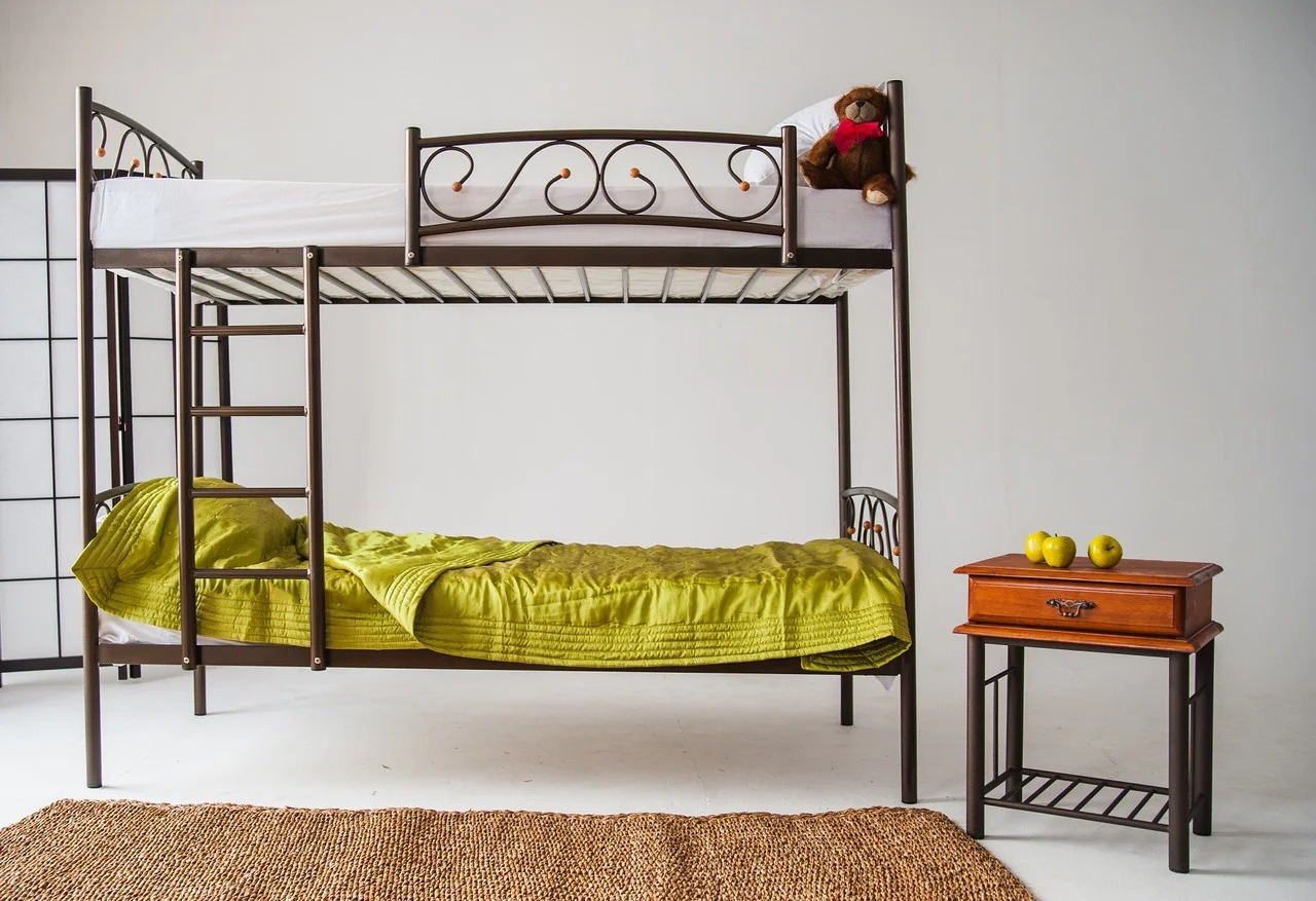 металлическая двухъярусная кровать фото дизайна