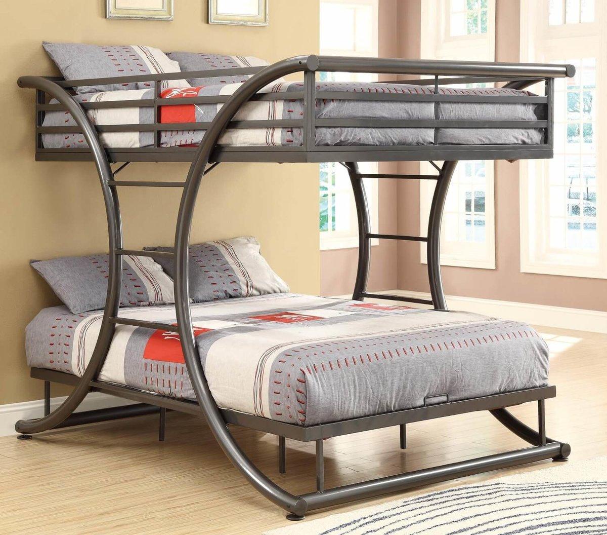металлическая двухъярусная кровать идеи дизайн