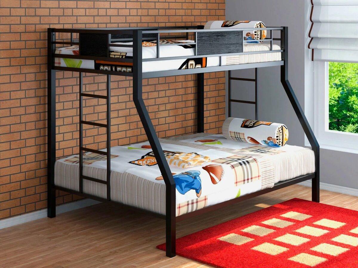 металлическая двухъярусная кровать идеи фото